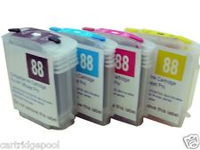 4 Refillable Cartridge for HP 88 L7500 L7650 K8600