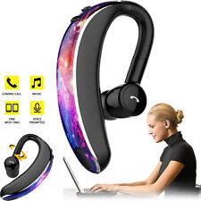 Wireless Bluetooth 5.0 Headset Headphone Stereo Earbud Mic for Mobile Cell Phone