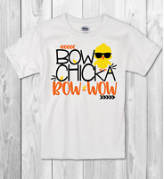 """Easter T-shirt BOYS """"bow chicka bow wow"""" Childrens Kids T Shirt/bodysuit"""