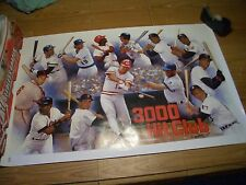 """WOW!! 3000 HIT CLUB, BASEBALL COLOR LITHOGRAPH 38""""X25"""", ARTIST SIGNED 11/22/97"""