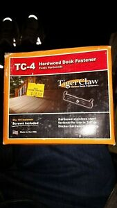 Tiger Claw Hidden Deck Fasteners TC-4 IPE Iron Wood - Box of 100 - with Screws