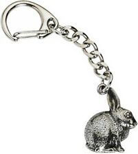 Rabbit Crafted from UK Pewter Key Ring (WA)
