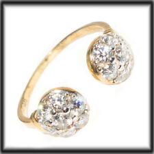 9ct Gold Toe ring Torque ADJUSTABLE set with stones Jewellery Company