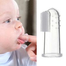 brosse à dents doigts enfant bébé hygiène Transparent pratique massage nettoyage