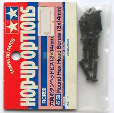 """Tamiya 3x14mm Steel Round Head Hex Screw (Schraube) """"NEW"""" 49159"""