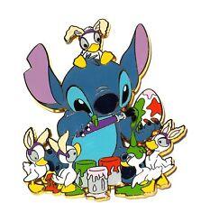 New LE 300 Disney Pin Stitch JUMBO Easter Egg Decorating Bunny Baby Ducks Art
