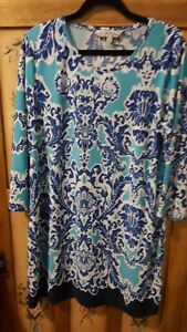 Nice RIVERS ladies stretchy colourful long top/short dress (size 12)