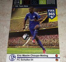 CARD ADRENALYN FIFA 365 CALCIATORI PANINI SHALKE 04 CHOUPO MOTING CALCIO
