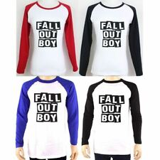 Fall Out Boy FOB Design Long Sleeve Couple T-Shirt Women's Men's Graphic Tee Top