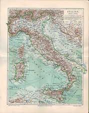 Landkarte map 1906: ITALIEN. Italia Sizilien Sardinien Toscana Umbrien Abruzzen