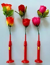 Rose Silk Artificial Light Flowers Wedding Party Home Decor lights 3 colours
