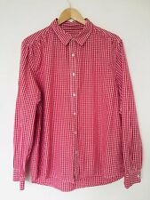 Check smart Casual Office M&Co Sand Stone Red L/S Shirt Size XL