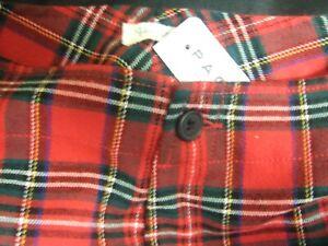 brandy melville John Galt red blue green plaid high rise kim pants size S Pacsun