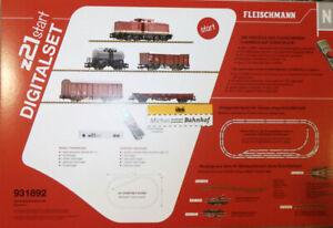 Fleischmann 931892 z21 start Digitalset Diesellok BR 110 Güterzug DR Ep4 Neu LG1