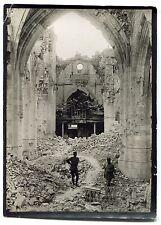 4 Photos - Guerre 14/18 - WW1 - Montdidier destructions - Tirages d'époque -