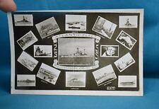 Real Photo RP Postcard Royal Navy Atlantic Fleet Mediterranean Cruise 1920