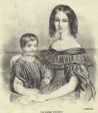 Duchessa D'Orleans 1843  litografia