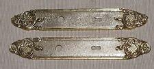 Ancienne plaque de propreté en bronze décor coquille porte serrurerie Déco loft