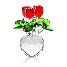 Crystal Roses Ornament Rose & Flower Home Decor Anniversary Gifts M&W