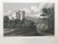 1831 Antique Print; Castle Huntly, near Dundee, Perthshire, Scotland after Neale