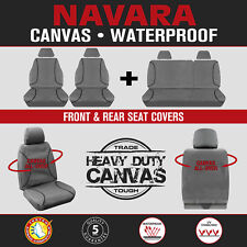 Nissan Navara D40 Dual Cab ST 2012-On TRADIES Heavy Duty Canvas Car Seat Covers