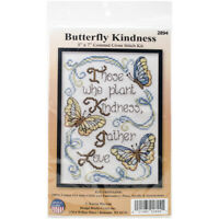 "Design Works Counted Cross Stitch Kit 5""X7""-Butterfly Kindness Mini (14 Count)"