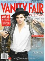 Robert Pattinson VANITY FAIR April 2011 MAGAZINE Twilight Movie Vampire #608