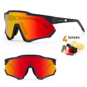 Polarized Cycling Sunglasses UV400 Bike Glasses TR90 Sports Eyewear 4 Lenses