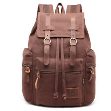 Women's Men's Vintage Canvas Backpack School Backpack Shoulder Travel Rucksack