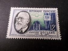 FRANCE 1957 timbre 1096, INVENTEURS, A. BECLERE, oblitéré, VF STAMP CELEBRITY