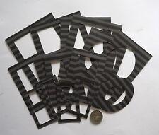 NO 527 Scrapbooking - 16 Paper Black & Grey Photo / Picture Frames - Scrapbook