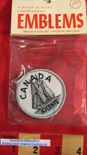 Vtg. In Pkg. Travel PATCH ~ 10¢ 10 Cents Dime Ocean Sailing Ship CANADA 57LL