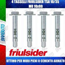 4 TASSELLI + VITE T.E. FRIULSIDER TSA 10-35 M8 10x80