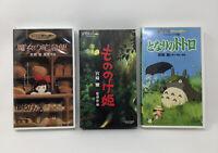 Studio Ghibli VHS Japanese-PRINCESS MONONOKE, KIKI & TOTORO UNTESTED No SUBS
