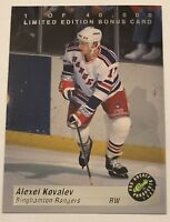1993 Classic Pro Hockey Prospects Limited Edition Bonus Card ALEXEI KOVALEV BC1