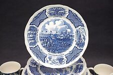 "(4) Meakin FAIR WINDS Luncheon Plates 9"" Historical Scenes of Chinese Export"