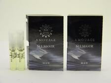 2 x Amouage MEMOIR MAN EDP Eau de Parfum 2ml Vial Spray New With Card