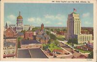 Atlanta, GEORGIA - State Capital & City Hall - BIRDSEYE - 1935