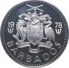 SILVER - WORLD Coin - 1978 Barbados 5 Dollars - World Silver Coin *174