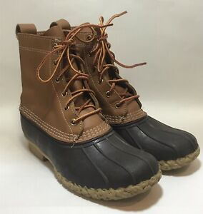 L.L. Bean Boot Size 8M 8-Inch LL Duck Boots Brown Tan 9 9.5 Maine USA Quality