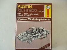 AUSTIN MONTEGO 1-3. 1-6 1984  HAYNES WORKSHOP MANUAL N0.1066