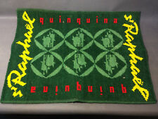 Ancien tapis de jeu de carte de bistrot publicitaire pub St Raphael quinquina