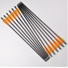 """12Pcs Od 8mm 17"""" Fiberglass Archery Arrows w/Replaceable Tips for Shoot Hunting"""