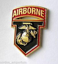USMC MARINES AIRBORNE MARINE CORPS AVIATION LAPEL PIN BADGE 1 INCH