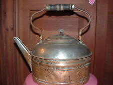 VINTAGE COPPER TEA KETTLE/POTw/Wooden Handle.(Aldrich Buffalo N.Y.)SOLID COPPER!