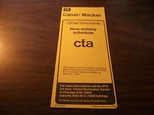 FEBRUARY 1981 CHICAGO CTA ROUTE 15 CANAL/WACKER BUS SCHEDULE