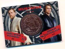 Star Wars Chrome Jedi vs Sith Bronze Medallion Duel Obi-Wan vs Anakin Skywalker
