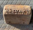 Antique Tapco Inc cast Iron Metal Farm Grain Elevator Bucket Rusty Primitive 6x4