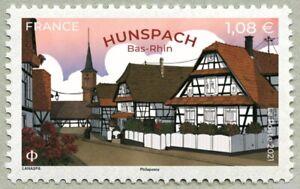 France 2021 HUNSPACH Bas Rhin house biautiful village 2020 church flower 1v mnh