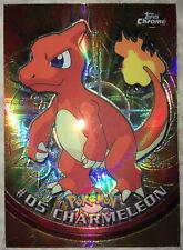 """RARE 2000 Topps Spectra Chrome Pokemon """"Charmeleon"""" Card #05"""